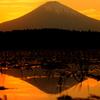 富士と田園