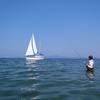 ヨットとアングラー