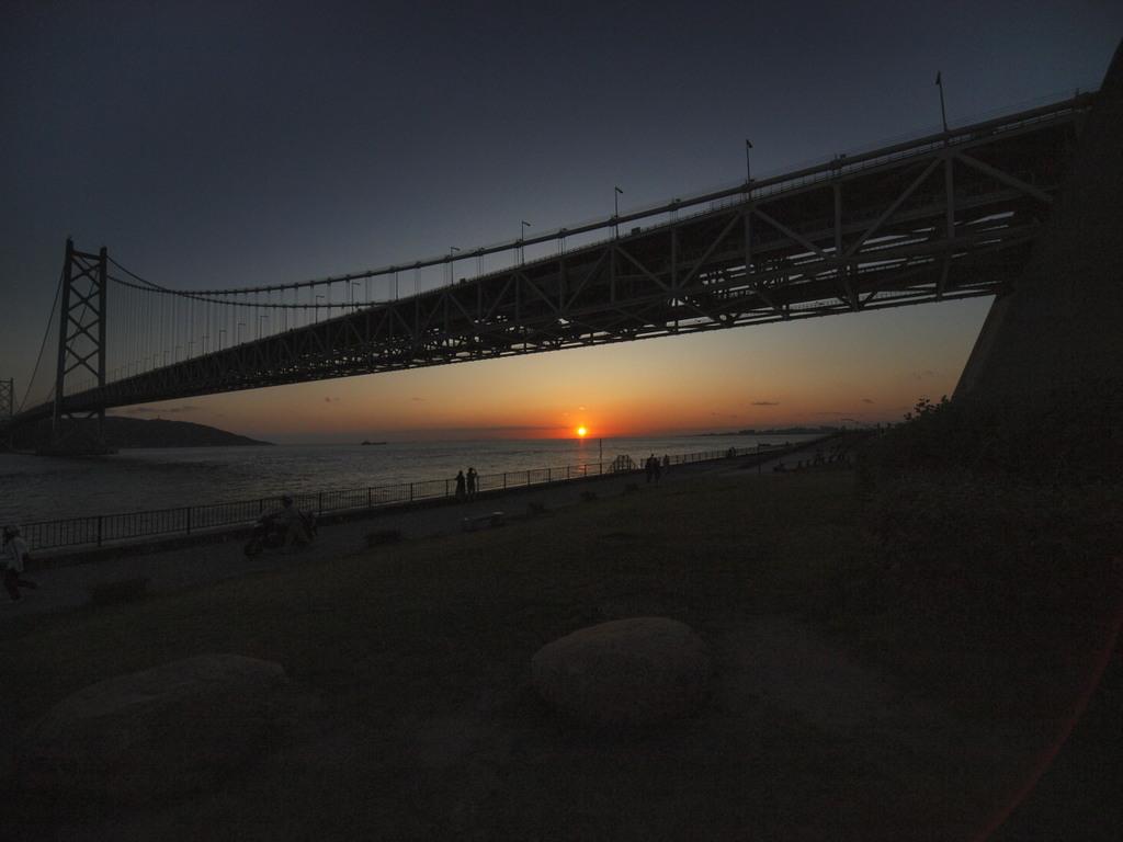 夕日 in   明石海峡大橋
