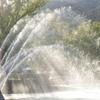 噴水と光のカーテン