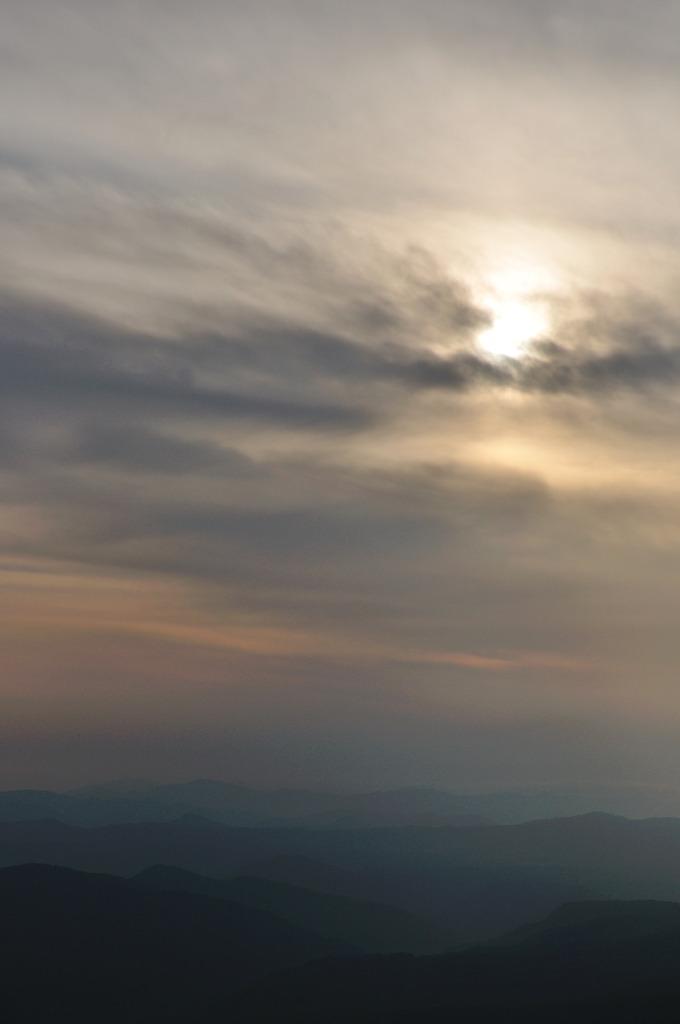 頂上からの夕日