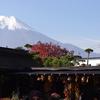 民家と富士山