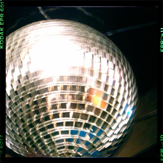a mirrored ball!!