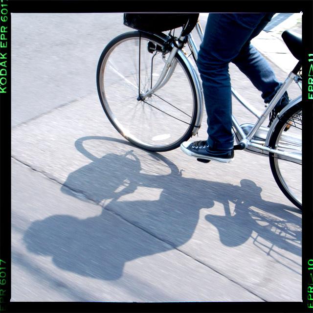 自転車をコイで・・・