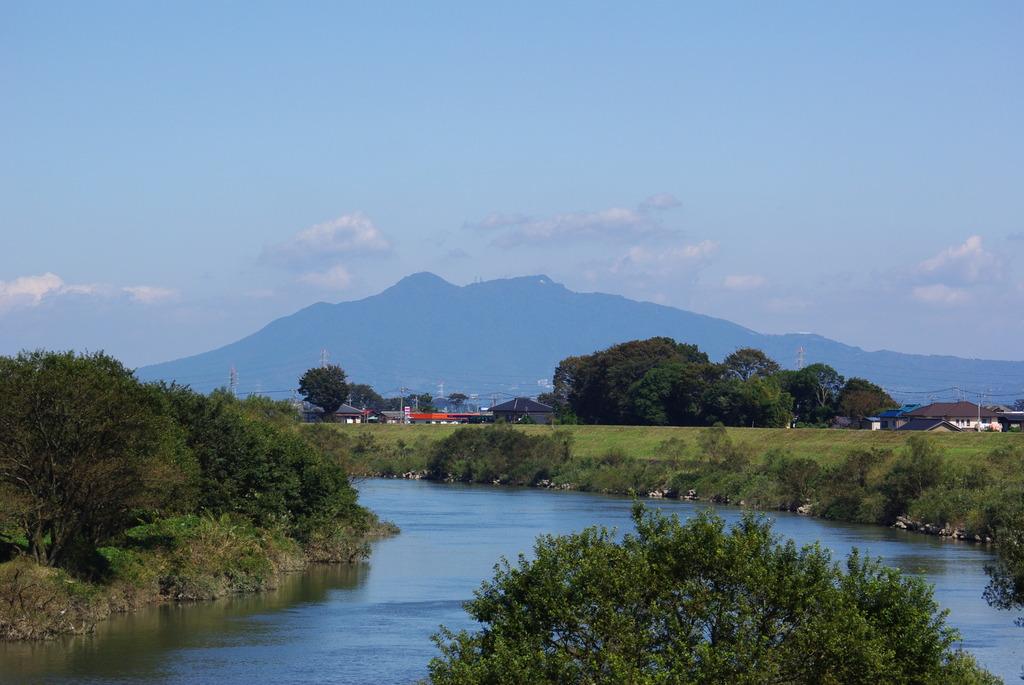 筑波山と鬼怒川