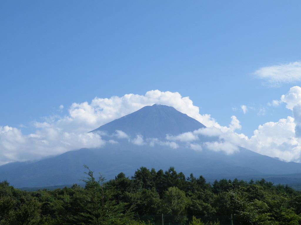 鳴沢から富士山