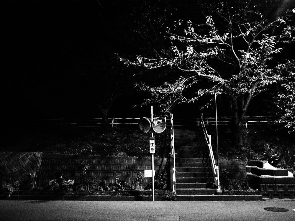 路上の階段