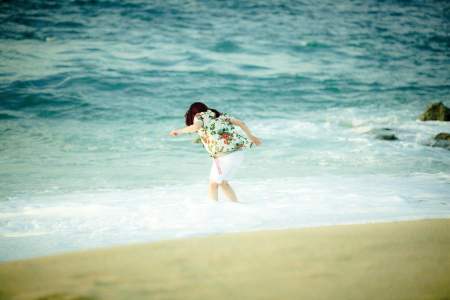 屋久島いなか浜にて