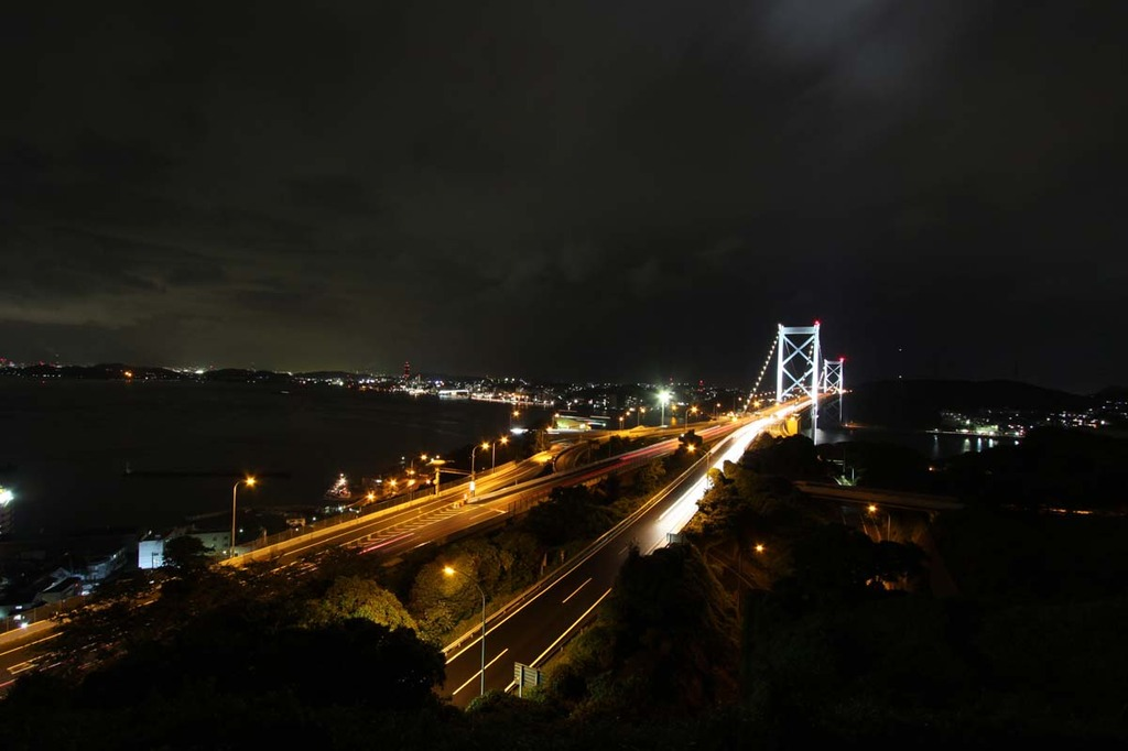 関門海峡の夜景