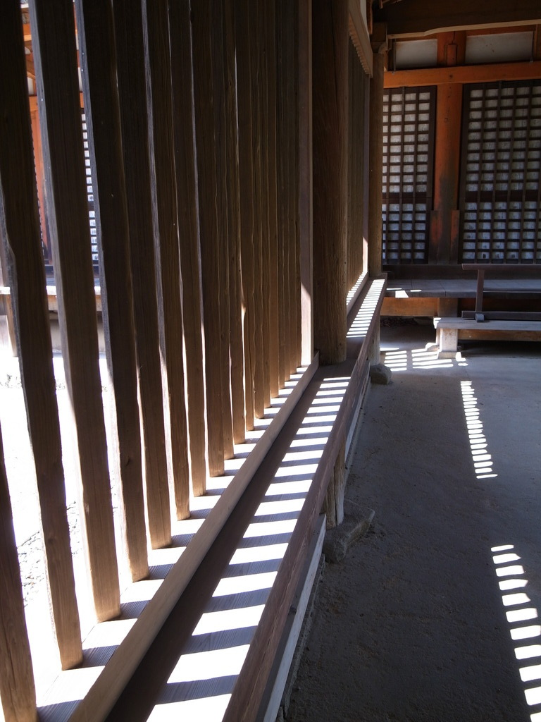 法隆寺にて