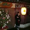 金沢東山、雪がチラチラ