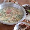 中国 牙克石のお宅の夕食