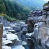 秋口の渓谷