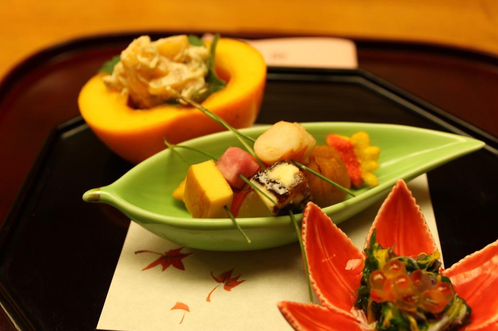 秋の小皿3種盛り