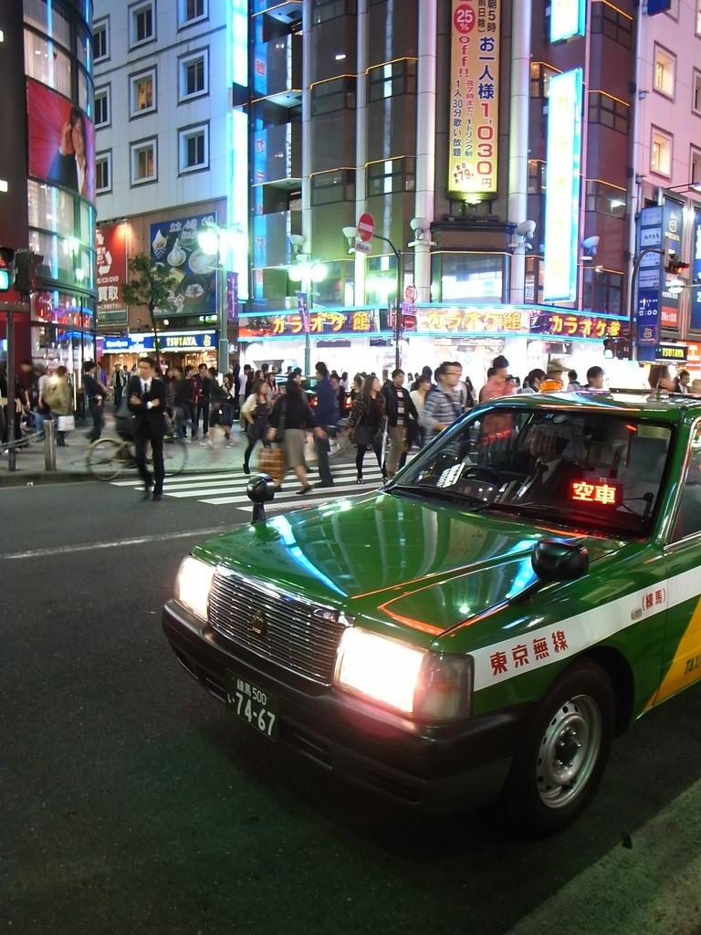 新宿タクシー交差点