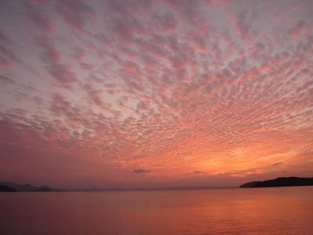 夕焼け雲+海(DSC00252)