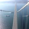 明石海峡大橋 地上300mより