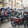 リキシャの渋滞