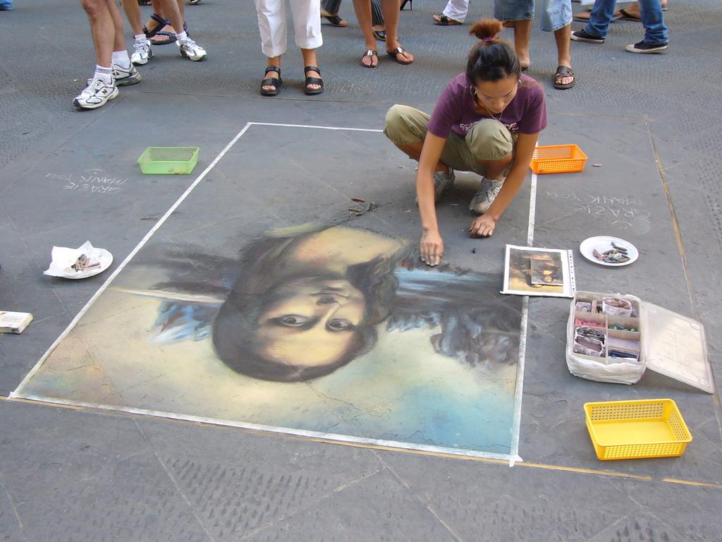 フィレンツェのストリート画家