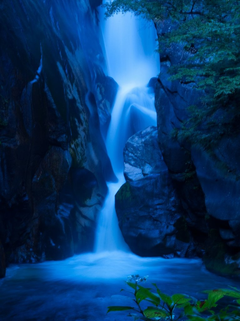 水の流れ。