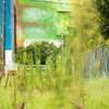 廃線跡と迷彩倉庫