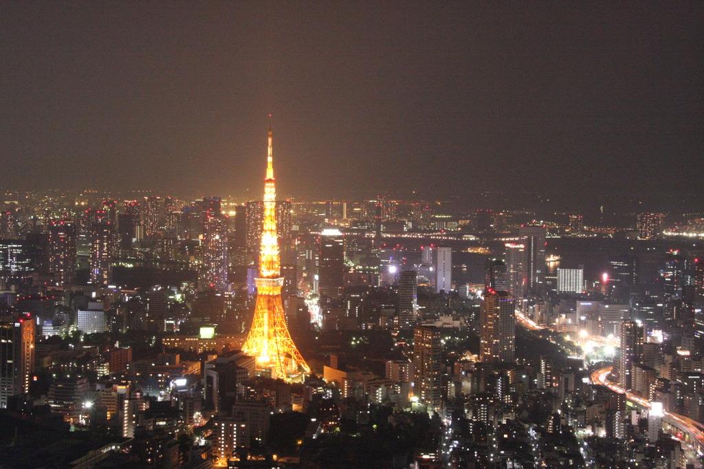 六本木ヒルズから見る東京タワー