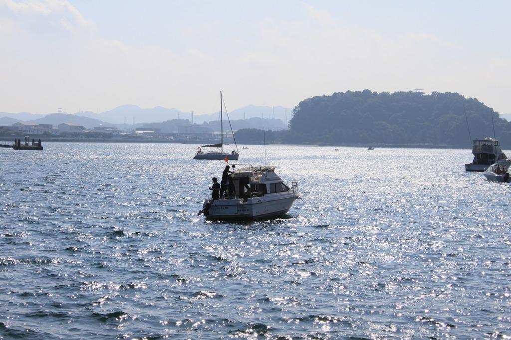 八景島付近の海