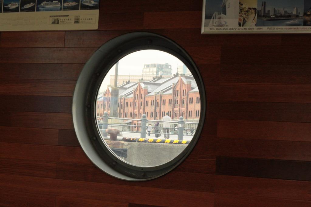 丸窓の景色