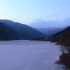 ダム凍っちゃいました