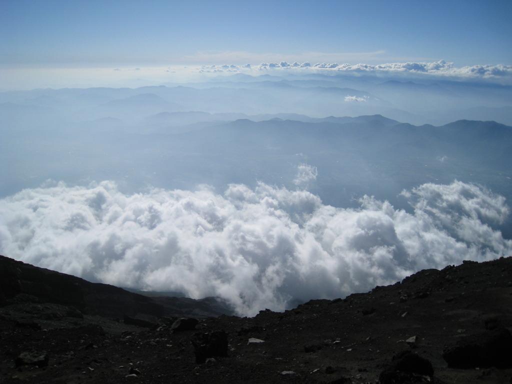 日本最高峰の眺め