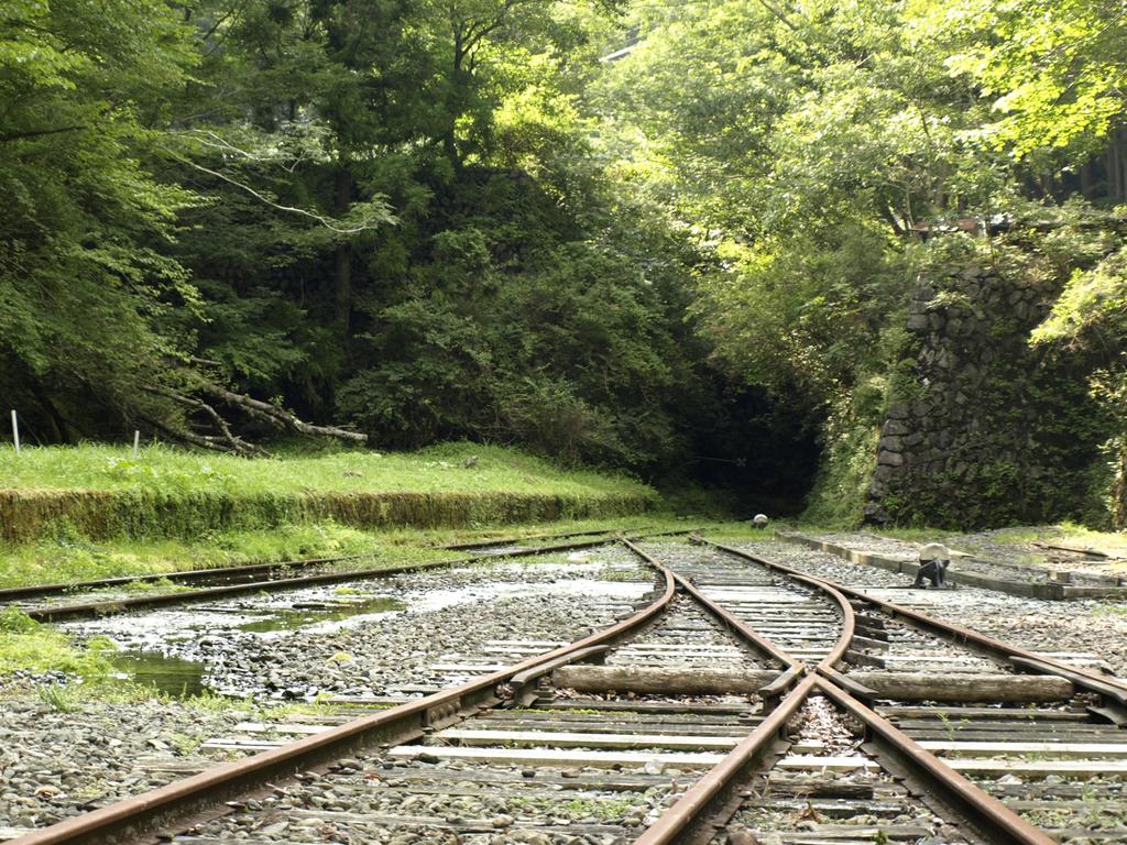大井川鐵道井川駅の先の秘密のトンネル