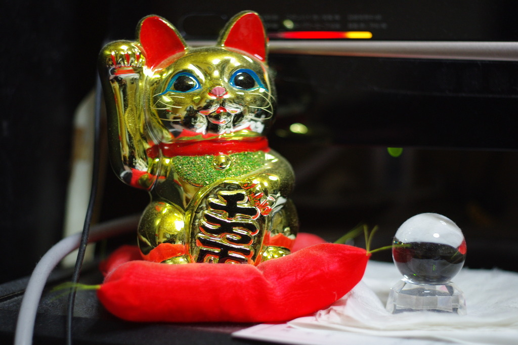 招き猫&本水晶