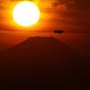 t富士山と太陽それと・・