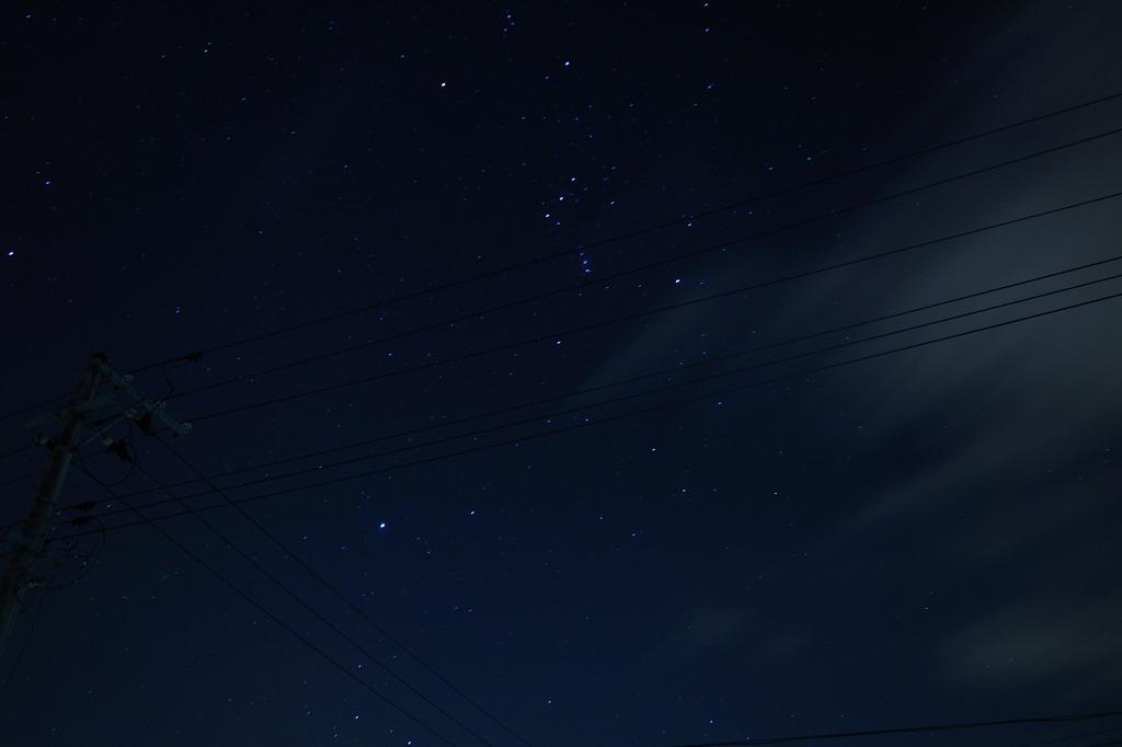 GRⅢで撮った夜空