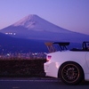 夕焼け富士とS2000
