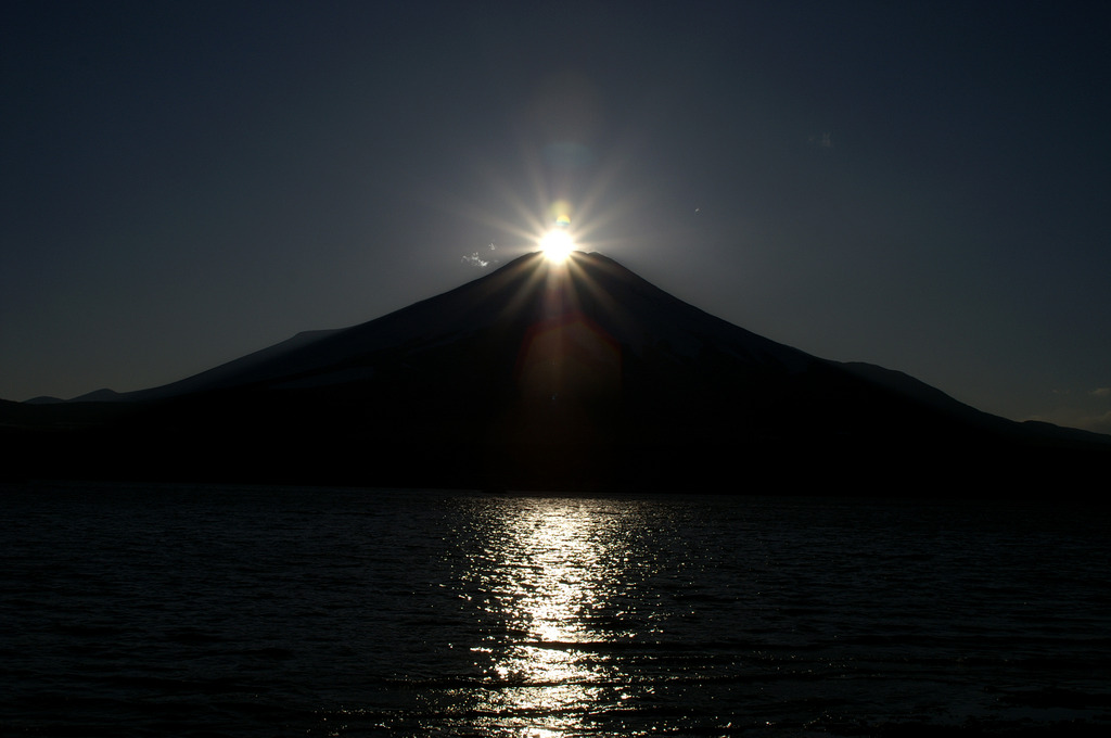 ダイヤモンド富士 in山中湖