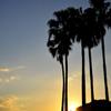 須磨海岸の夕日