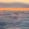 機上からの夕日