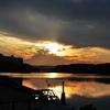 近所の夕日