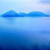 洞爺湖 中島の朝