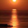 オホーツクの夕日 光の道