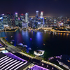 Night View Of Singapore
