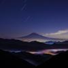 深夜の富士景色
