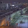 夜中の線路