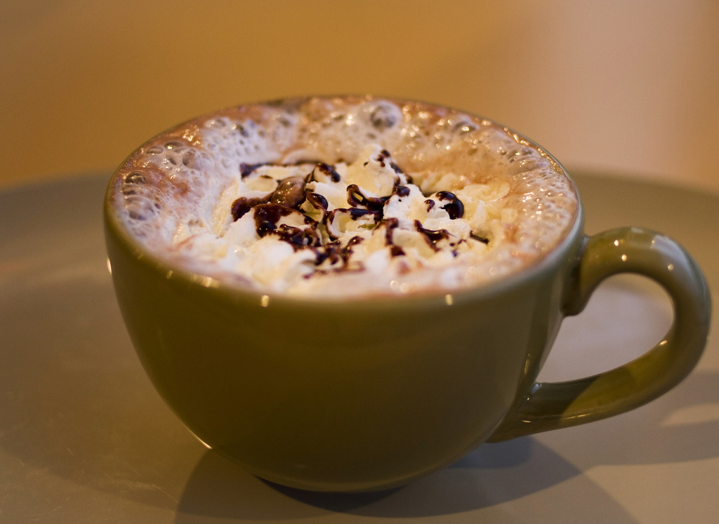 Cafe Mocaを飲もか。