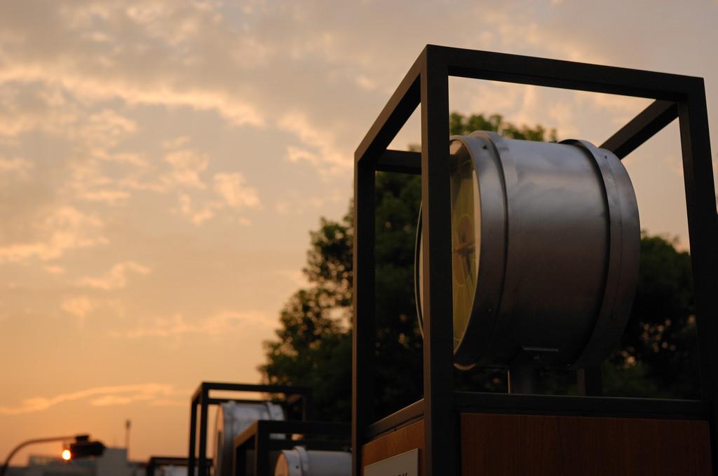 夕日と時計