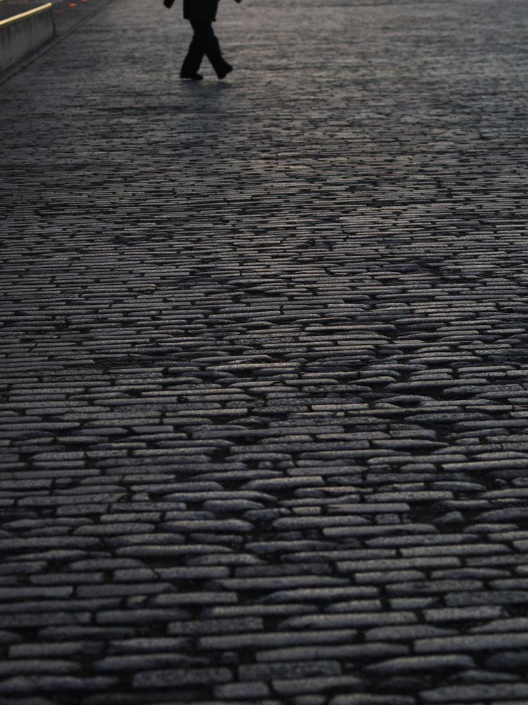 赤レンガパークの石畳