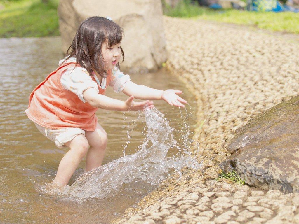 水をかける