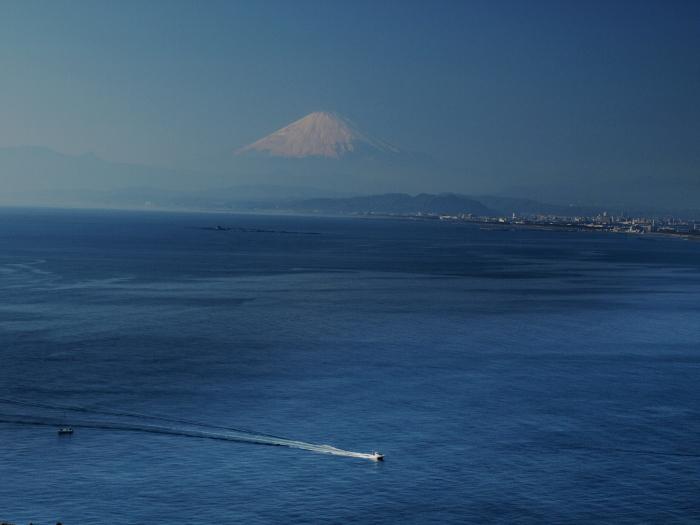 ホワイトブルーな富士