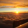 飛行機から見た夕焼け